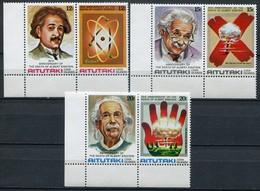 Aitutaki Mi# 334-9 A Postfrisch MNH - Albert Einstein - Aitutaki