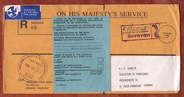 Luftpost, Einschreiben Reco, Mbabane Nach Frankfurt 1998 (90162) - Swaziland (1968-...)
