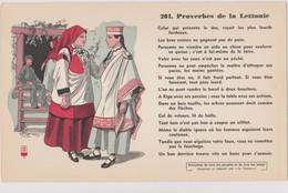 BUVARD EPAIS PEU COURANT PROVERBES DE LA  LETTONIE    N° 201 - Buvards, Protège-cahiers Illustrés
