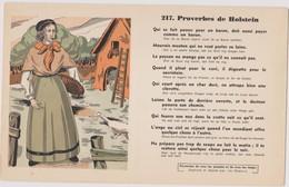 BUVARD EPAIS PEU COURANT PROVERBES DE HOLSTEIN  N° 217 - Buvards, Protège-cahiers Illustrés