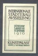 Werbemarke Cinderella Poster Stamp Städtebau Ausst. Düsseldorf 1910 #36 - Vignetten (Erinnophilie)