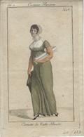Imprimé Costume Parisien - Cornette De Tulle Brodé (446) - Prenten & Gravure