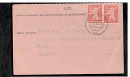 Civilian Internment Camp - Zivilinternierten Nachfrage 1946 Stempel Berlin W15 Uu - Bizone