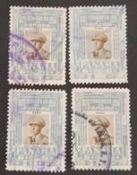 PANAMA 4 X YT PA 160 OBLITÉRÉ ANNÉE 1956 - Panama