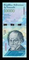 Venezuela 10000 Bolívares 2016 Pick 98a Nice Serial A 80808080 SC UNC - Venezuela