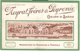 Buvard Neyrat Frères Et Peyronie - Chalon Sur Saône - Très Bon état - Vloeipapier