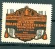Werbemarke Cinderella Poster Stamp Deutsche Brauerei Ausstellung München 1909 #186 - Vignetten (Erinnophilie)