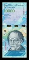 Venezuela 10000 Bolívares 2016 Pick 98a Nice Serial A 00010000 SC UNC - Venezuela