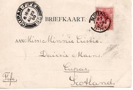 Sloterdijk - Kleinrond 27 AUG 00 - Amsterdam - Cupar-Fife - Marcophilie