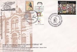 20° ANIVERSARIO DEL CEFAI, 50° ANIVERSARIO DE ISRAEL. 1997 ARGENTINA SPC CON VIÑETA JUDAISMO יהדות ישראל -LILHU - Jewish