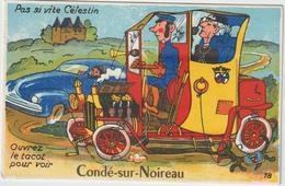 Calvados :  CONDE  Sur   NOIREAU : Carte à  Systéme  ,  Tacot   , Automobile - France
