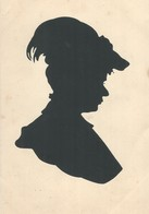 Femme  Silhouette     2 Cartes - Cartes Postales