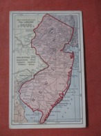 Detailed Map Of New Jersey    Ref  3859 - Andere