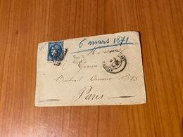Lettre Du 6mars 1871-  GC 260  ( Avignon ) - Aff N°46B EMISSION DE BORDEAUX  TypeIII Report II (port Offert ) - 1849-1876: Klassieke Periode