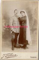 Grande CDV (CAB) Jour De Mariage-photo Fillion à Lisieux - Guerra, Militari