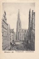 MUNSTER I. W. , Germany , 1890s ; Prinzipalmarkt - Lambertikirche - Muenster