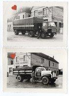 40322-ZE-59-CAMBRAI--------lot De 2 Photographies----Entreprise PIERRE DESVIGNES---------camions-animée - Automobiles