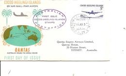 Cocos - Avions ( FDC De 1963 à Voir) - Isole Cocos (Keeling)