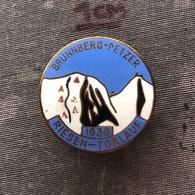 Badge Pin ZN008922 - Skiing / Ski Jumping Czechoslovakia Brunnberg - Petzer 1938 Reisentorlauf - Wintersport