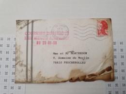 Courrier Déterioré Suite Accident Aeropostale Du 29 Janvier 1988, FP De Deces Du 27/01 A L'interieur - Publicités