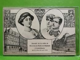 Souvenir De La Visite Du Roi Et De La Reine De Belgique à Luxembourg. P. Houstraas - Cartes Postales