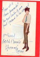 Illustrateurs /KIRCHNER RAPHAEL /FEMME  Boite A Chapeau / L'arpete Montmartroise / MONTMARTRE / PARIS - Kirchner, Raphael