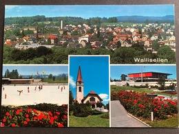 Zürich-Wallisellen Mehrbild Dorfansicht/ Eisbahn - ZH Zurich