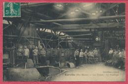 Eurville Dépt. Haute-Marne : Les Usines - Le Puddlage / Intérieur D'usine - Ouvriers Au Travail 1910 - France
