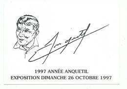 CPM  1997 Année Anquetil Tour De France Bourg En Bresse 01 Ain Vélo Cycliste Sport Cyclisme Exposition - Radsport