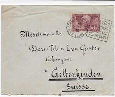 Frankreich 1952 Brief St.Etienne - Gelterkinden / Suisse - Michel Nr. 248 -Le Sourire De Reims - Francia