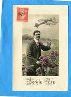 """MARCOPHILIE -Carte Postale -oblitération SUR 10C SEMEUSE -""""CACHET JOUR DE L'AN"""" - Manual Postmarks"""