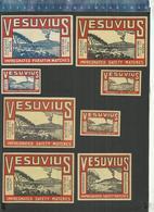 VESUVIUS - VESUVIO - VOLCANO - VULKAAN -  VOLCAN Old And Rare Belgian Matchbox Labels - Boites D'allumettes - Etiquettes