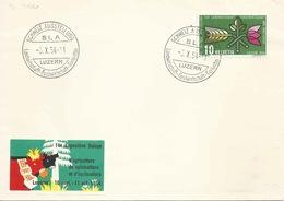 """Sonderbrief  """"Schweiz.Ausstellung Für Landwirtschaft, Luzern""""       1954 - Suisse"""
