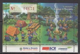 2011 Costa Rica Scouting Souvenir Sheet  MNH - Costa Rica