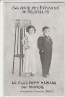 Souvenir De L'Exposition De BRUXELLES , Le Plus Petit Mariage Du Monde , Impresario ERCOLI ,Le Village Des Nains? 1910 ? - Expositions Universelles