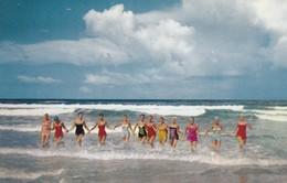 DAYTONA BEACH , Florida , 50-60s ; Cyprus Garden Girls In Surf - Daytona