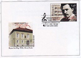 Slovenia 2020 FDC Cover; Music; Famous People Hugo Wolf; Composer; Architecture - Musique