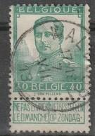 COB N° 114 Oblitération WALCOURT 1913 - 1912 Pellens