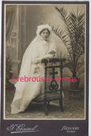 Grand CDV-(CAB) Jolie  Communiante- Photo Gainel à Senones (Vosges) - Ancianas (antes De 1900)