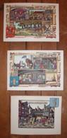 Lot De 3 Cartes ARTS ET COULEURS / Métiers & Histoire / Miniatures De Jean GRADASSI / Monaco - History