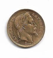 FRANCE - Pièce En Or De 20 F. - Napoleon III - Tête Laurée - 1865 A - Oro