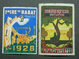 Lot Vignettes Maroc / Tunisie - Marocco (1891-1956)