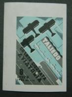 Poster Stamp Cinderella Vignette Reklamemarke Taliedo Air Show Giornata Aviatoria Journée Aérienne 1934 - Luftpost