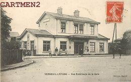 VERNEUIL-L'ETANG VUE EXTERIEUR DE LA GARE STATION 77 SEINE-ET-MARNE - Frankrijk