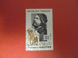 """1972    -oblitéré   N°1728    """"  Theophile Gauthier  """"         Net   0.80   Photo  1 - Oblitérés"""