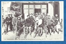 CPM Tours 1900 N° 5 Cyclisme Les Gagnants Du Championnat Des 100 Kilomètres Du VCT 1907 Reproduction 9/14 Cm - Radsport