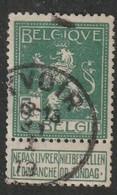 COB N° 110 Oblitération YVOIR 1913 - 1912 Pellens