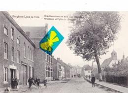 BORGLOON - LOOZ - La Ville - Graethemstraat En Kerk VanGasthuis - Graethem Et Eglise De L'Hospice - Carte Animée - Borgloon