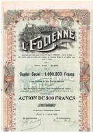 Titre Ancien - L'Eolienne - Société Anonyme - Titre De 1920 - Déco - Textiel