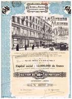 Titre Ancien - La Grande Maison De Blanc - Successeur De E. Lefebvre - Société Anonyme - Titre De 1920 - Déco - Tessili
